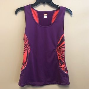 Lucy Purple workout tank top small